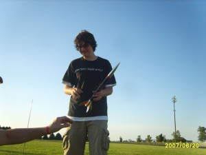 Jared and the Silver Rocket by Estes