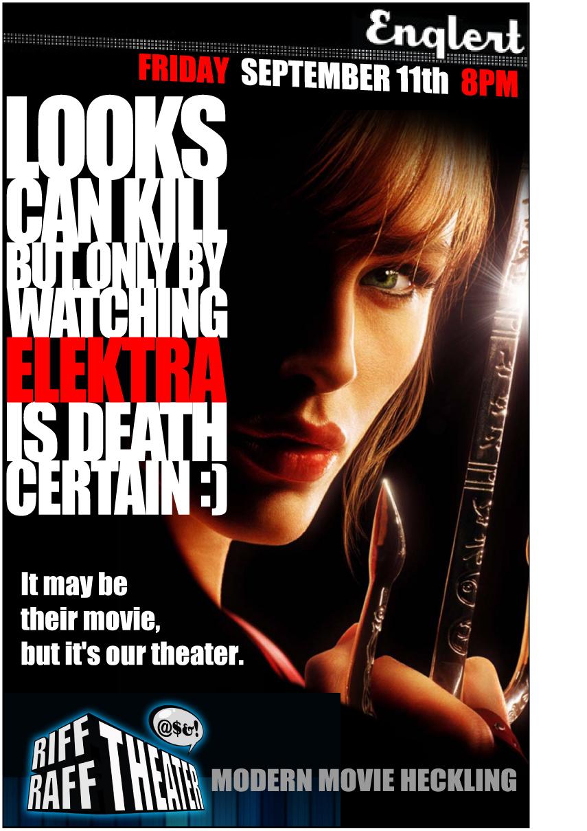 Riff Raff Theater Poster v2.0: Elektra