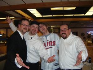 (R to L) Dennis Lambing, Dave Atwater, Chris Hanel, Todd Gutnecht