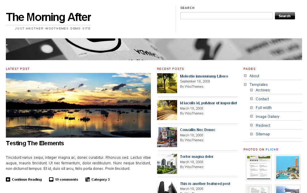 The Morning After Wordpress Theme: by WooThemes