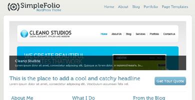 "WordPress Zen: Tweaking the SimpleFolio Theme is not that ""Simple"""